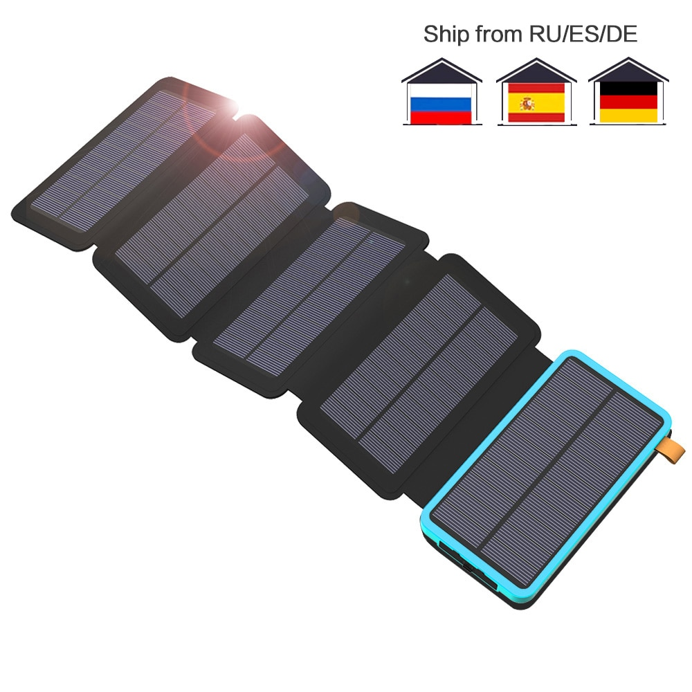 25000mAh 24000mAh 20000mAh 10000mAh بنك الطاقة الشمسية شاحن بطارية الطاقة الشمسية آيفون باد سامسونج هواوي شاومي LG سوني OnePlus