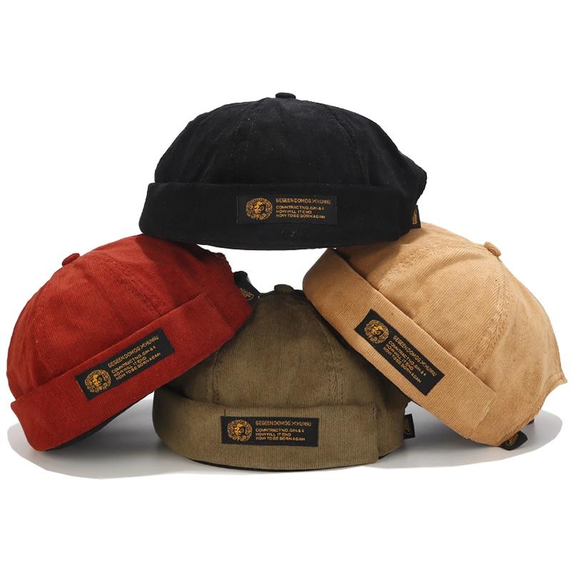 Мужская Регулируемая шапка Docker, шапка с черепом, Шапка-бини, флип, хлопковая дышащая шапка в новом стиле, весна-осень