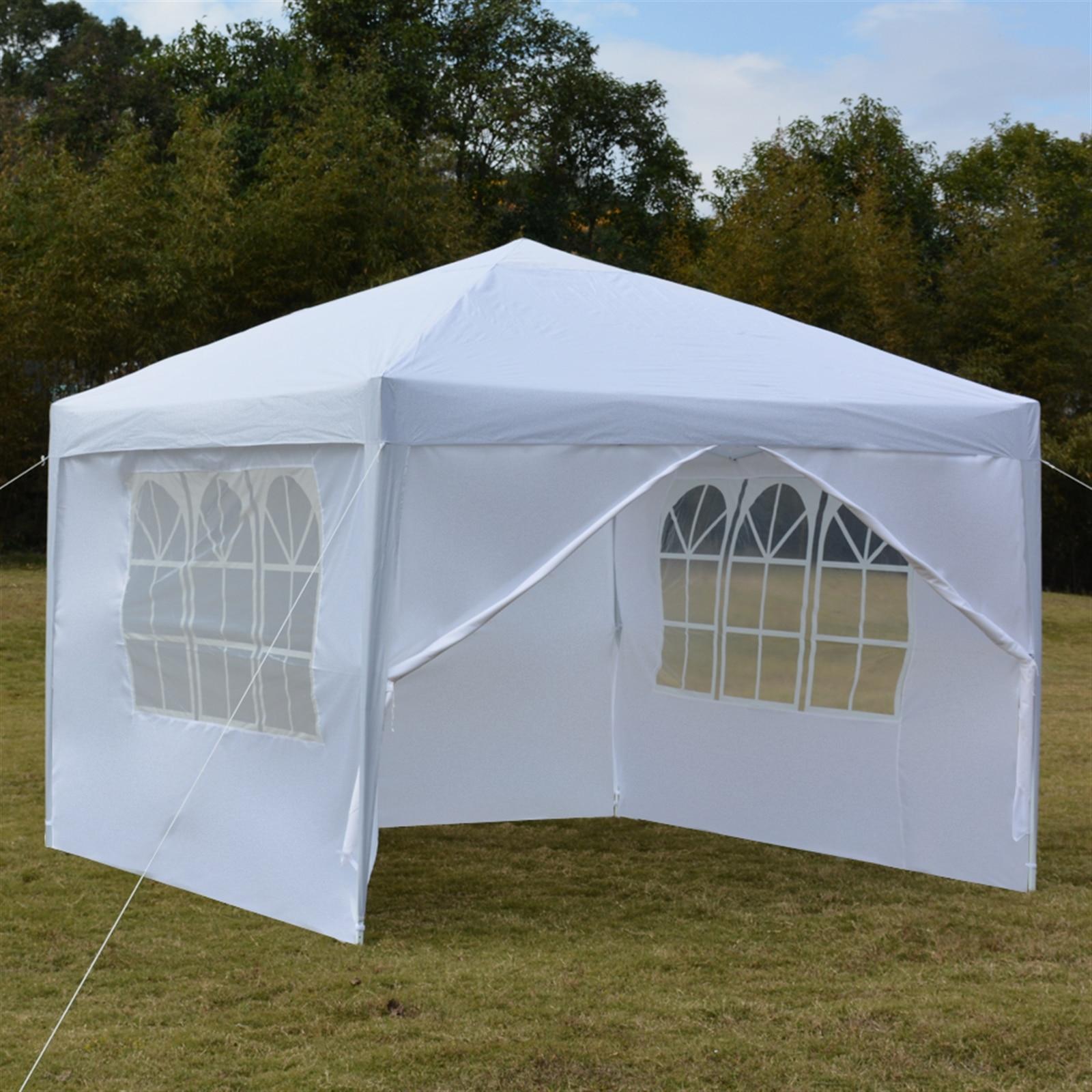 3x3 متر بابين اثنين من النوافذ العملي مقاوم للماء الزاوية اليمنى خيمة قابلة للطي لحفل زفاف التخييم المنزلية وقوف السيارات تسليط