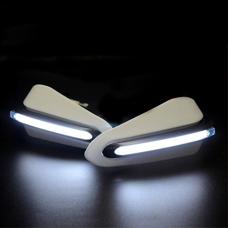 Guardamanos de motocicleta con luz LED para honda dominator goldwing gl1800 sombra aero 750 valkyrie 1500 varadero 125