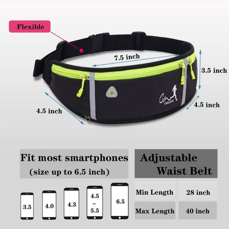 Sport Belt Waist Pack Pouch Water Bottle Holder Bag for Jogging Hiking Running