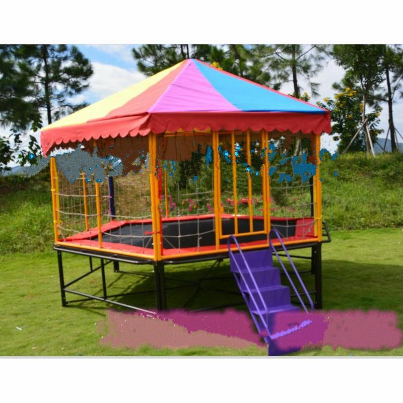 Trampoline Sunshade, 6/8 Feet Canopy Rainproof, Jump Spring Bed Cover Prevent Sunshine And Rain Snow