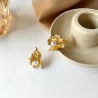 s925 needle delicate jewelry fashion geometric earrings 2021 new design hot selling golden stud earrings for women party gifts