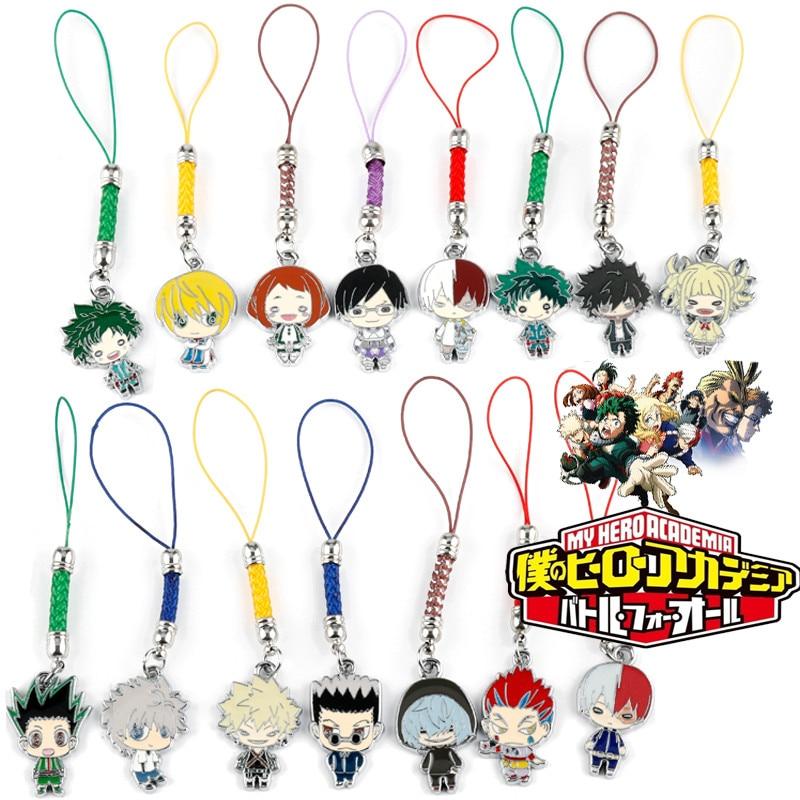 Anime My Hero Academia Braid Rope Key Chain Cartoon Pendant Keyrings Backpack Keyholder Kawaii Trinket key ring