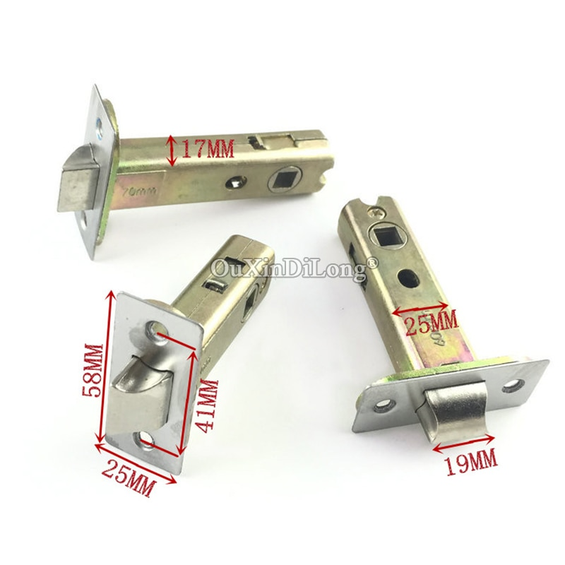 Brand New 1 قطعة الأوروبي نقر قفل الباب اللسان قفل اسطوانة الأساسية إصلاح أجزاء 50 مللي متر/60 مللي متر/70 مللي متر
