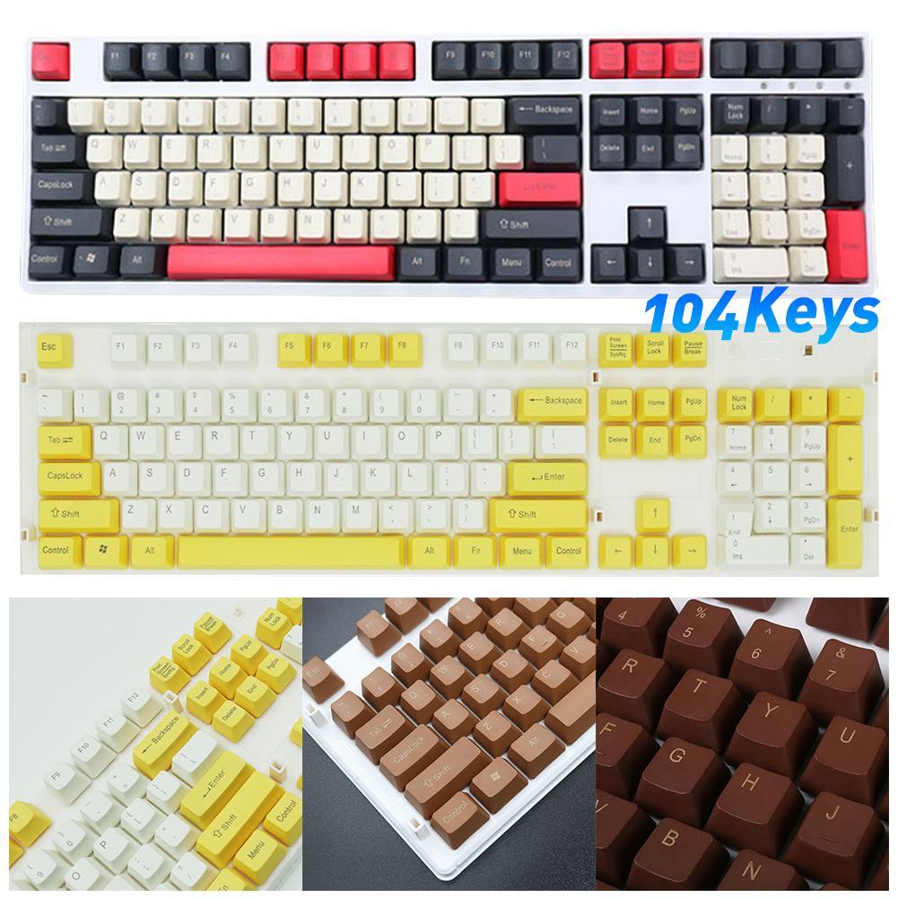 104 chaves pbt sortidas cor universal keycaps para cherry mx teclado mecânico 2020 novo