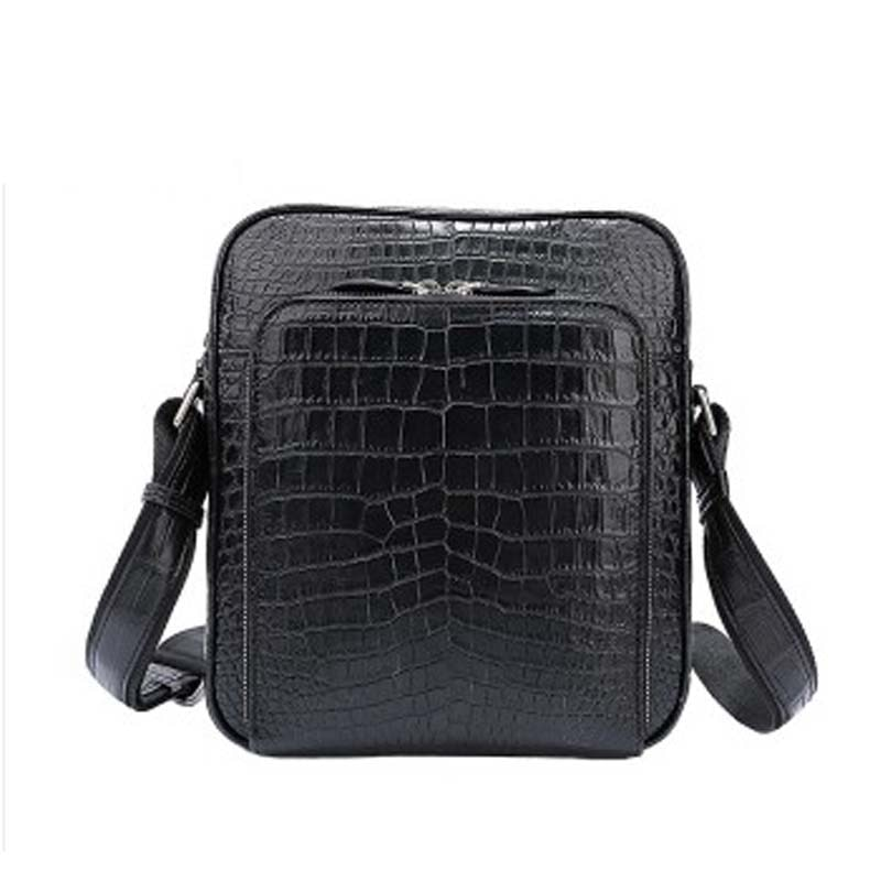 weitasi new arrival Crocodile leather single shoulder bag men bag No stitching casual fashion men handbag