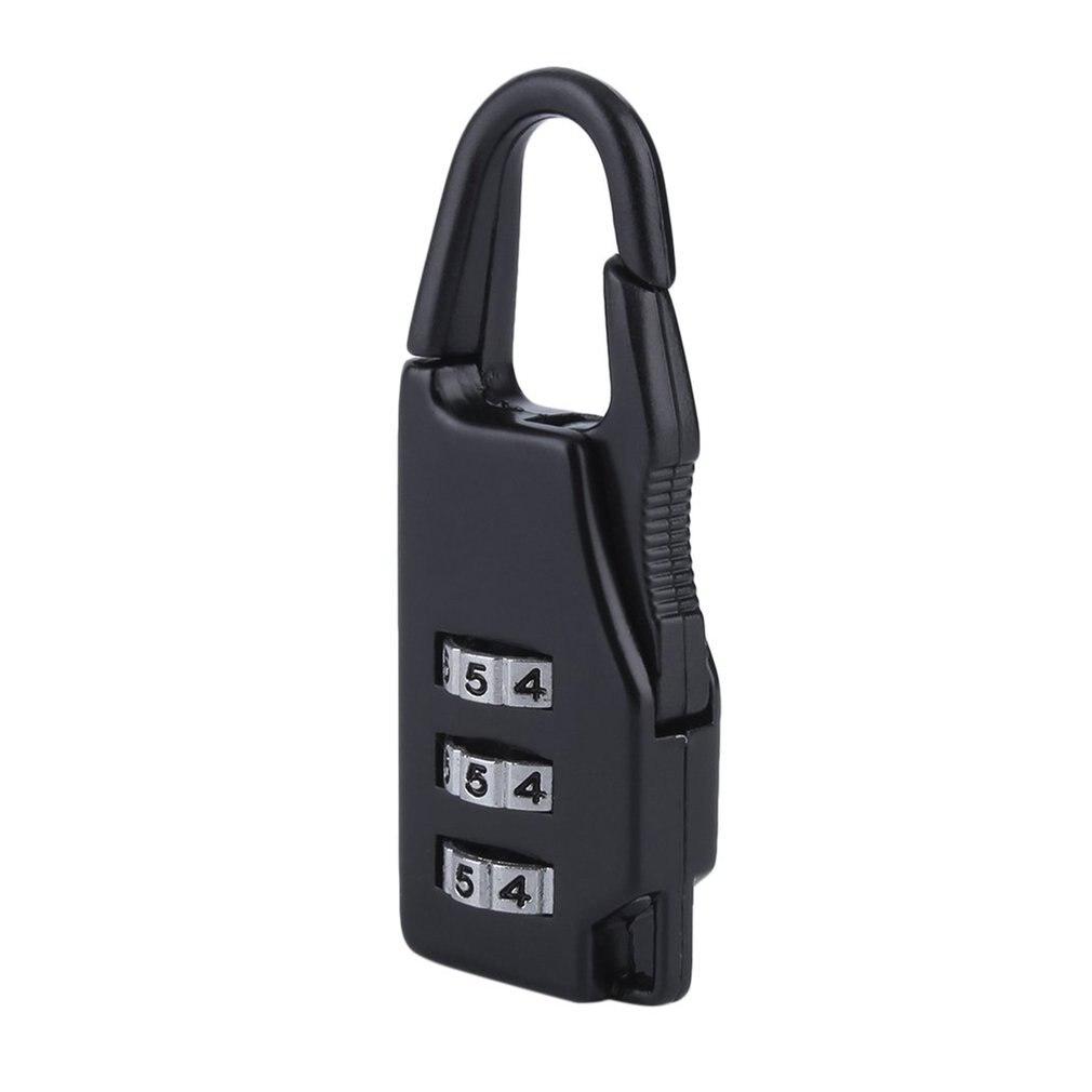 Comprar 1 Obter 1 gratuitamente 3 Combinação de Viagem Mala de Bagagem de Segurança Código De Bloqueio Do Saco Zipper Cadeado hot
