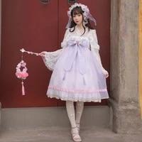 y2k summer kawaii lolita dress japanese vintage sweet spaghetti strap soft girl jsk bow baby doll dress for women cute vestidos