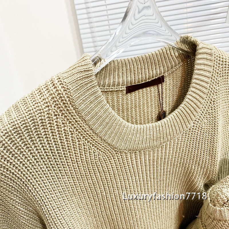 Autumn 2021 fashion high end woman sweaters long sleeve Doll design letter logo jacquard brand Round woman knit pullover sweater enlarge