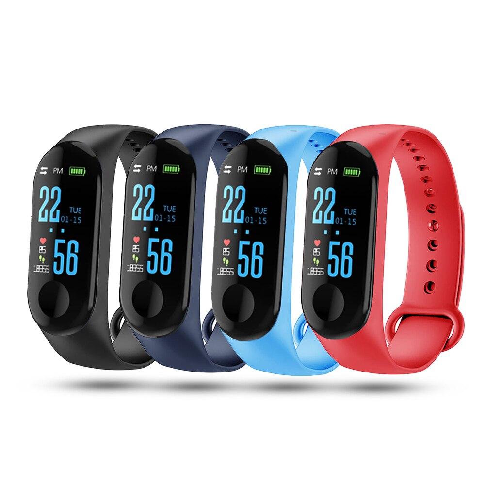 Reloj inteligente M3 Pro M3, pulsera inteligente deportiva con Monitor de presión sanguínea y resistente al agua para hombre y mujer
