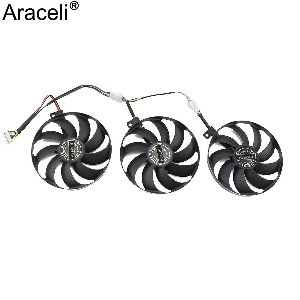 T129215SU 7Pin GPU Card Cooler Fans For ASUS ROG STRIX-GeForce RTX 2060 2070 Super 2080 2080 Ti or RX 5600 XT RX 5700XT Fan