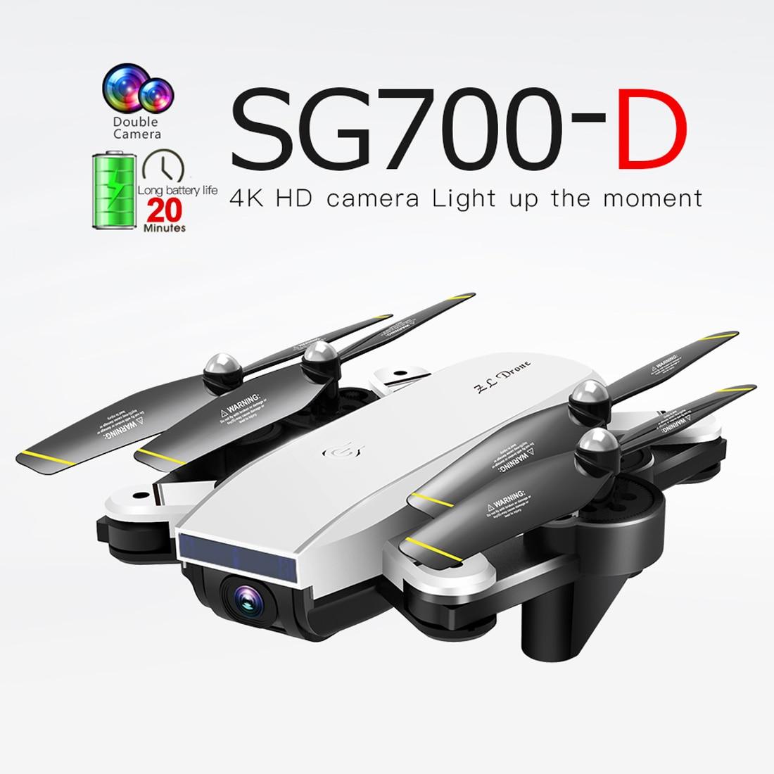 2019 SG700-D للطي WiFi FPV RC Drone 4K 1080P HD كاميرا مزدوجة البصرية تدفق الوقت الحقيقي فتة الجوي صور فيديو RC Quadcopter