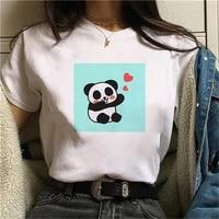 fashion streetwear kawaii women t shirt graphic cute panda print girls ladies tshirts oversize white tees female top clothing