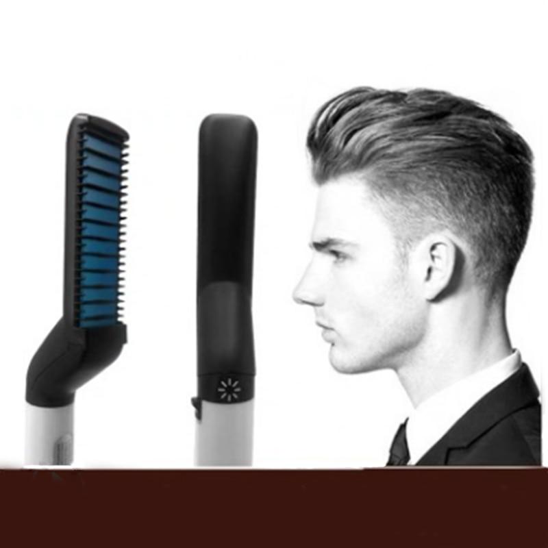 Multi-functional Styling Comb Hair Comb Straight Hair Beard Comb Shape Fluffy Electric Beard Straigh