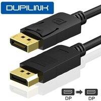 Кабель для порта дисплея DP DP1.2 1080P 3D DP аудио-видео кабель 1,8 м 3 м 5 м для ТВ графической карты проектора