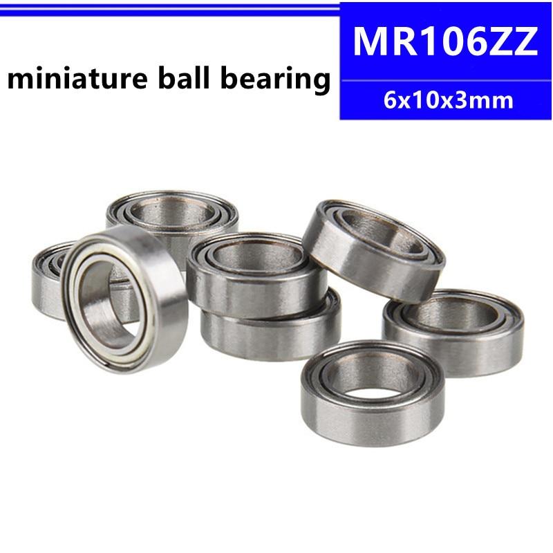 50/100/500 قطعة MR106ZZ 6*10*3mm MR106 -2Z 6x10x3mm MR106 MR106Z مصغرة كرة أخدود عميقة تحمل L-1060ZZ
