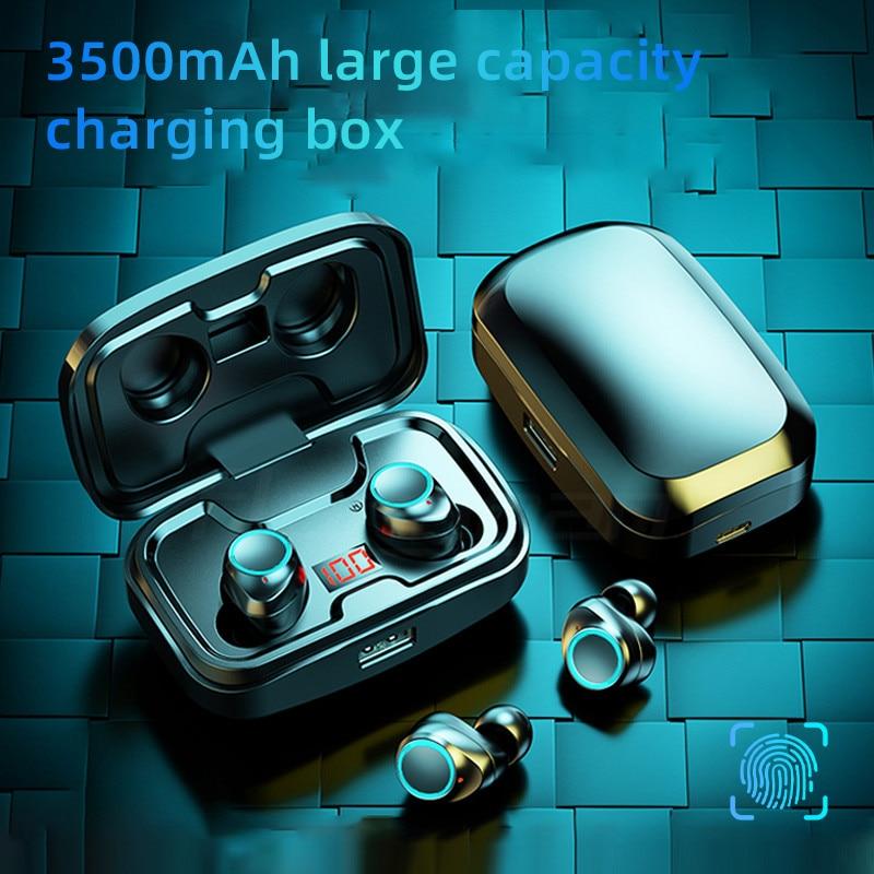 TWS Bluetooth 5.0 Earphones 3500mAh Charging Box Wireless Headphone 9D Stereo Sports Waterproof Earbuds Headsets With Microphone