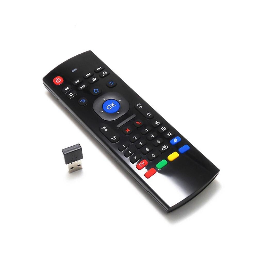 MX3 2,4G controlador de teclado inalámbrico Control remoto ratón de aire para proyector TV inteligente ordenador portátil