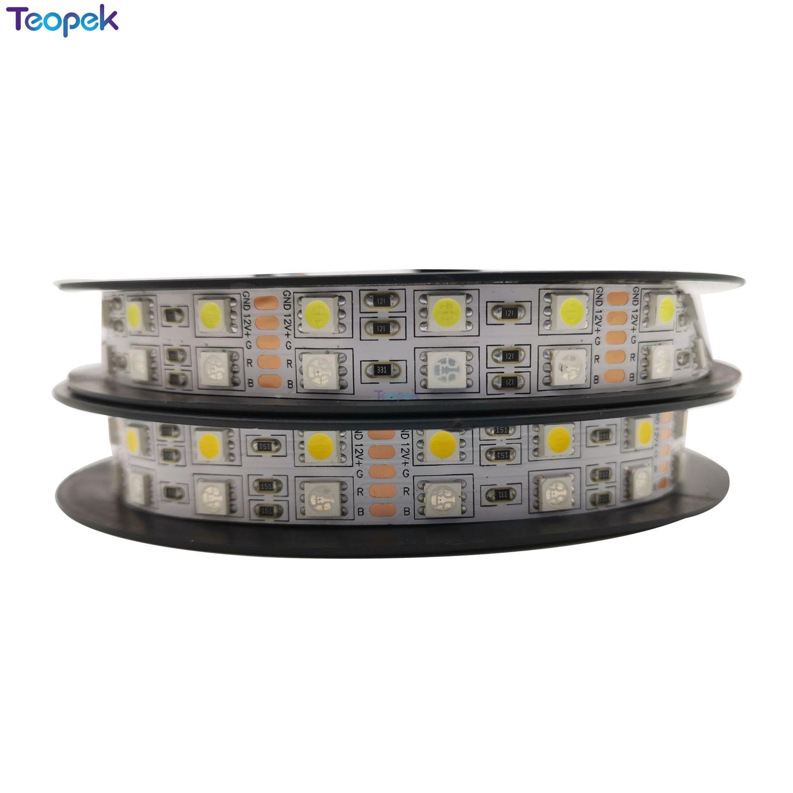 Double Row 5050 RGBW RGBWW RGB+Cool White Warm White Flexible LED Strips DC12V 24V 5M/roll 120led/M 600LEDs