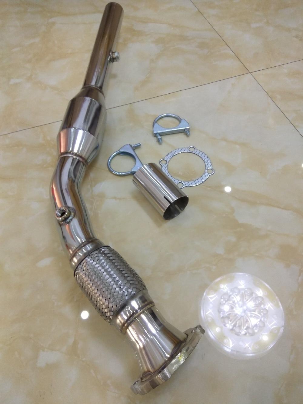 Tubo de escape deportivo para gatos para bora beetle jetta A3 1,8 T AUM AUQ GOLF MK4 GTI 1,8 l A3 TT, tubo de bajada TURBO de 200 celdas