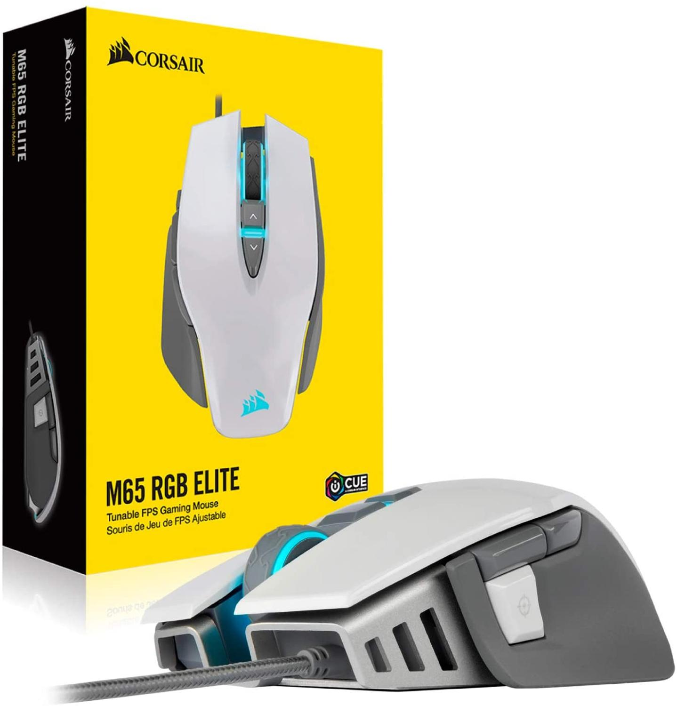 CORSAIR M65 RGB ELITE Tunable FPS de ratón de juego con retroiluminación LED RGB 18000 DPI óptico (CN)