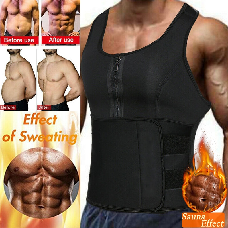 Männer Schweiß Sauna Weste Taille Trainer Korsett Neopren Körper Shaper für Gewicht Verlust Abnehmen Tank Top Training Hemd Faja Shapewear