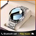 E1-2 Смарт-часы для мужчин с Bluetooth вызовом на заказ циферблат Полный сенсорный экран водонепроницаемые умные часы для Android IOS спортивный фитнес-трекер