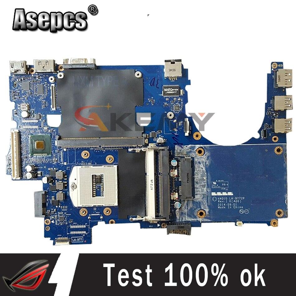 100% العمل ل لديل الدقة M4800 اللوحة CN-08KWV8 08KWV8 8KWV8 VAQ10 LA-9772P rPGA-947R اختبار موافق