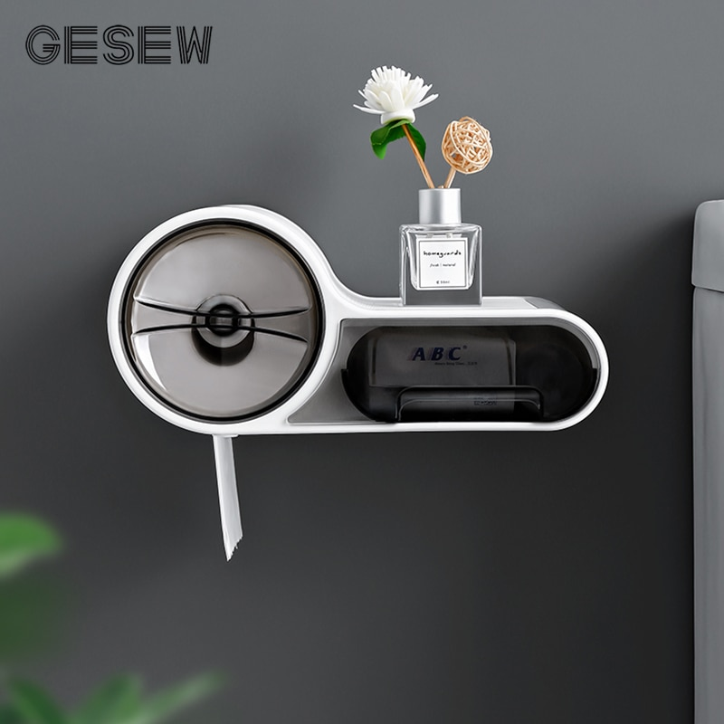GESEW-boîte à mouchoirs murale porte-papier hygiénique étanche pour salle de bain, accessoires de salle de bains, porte-papier hygiénique