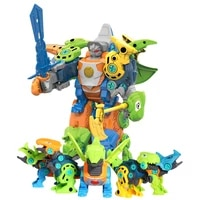 5 in1 transformation assemble dinosaur transforming robot action toy figures anime figures deformation toys model boys gift