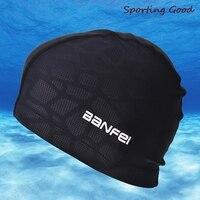 Водонепроницаемая тканевая Защитная шапка для бассейна с длинным ворсом, гибкая прочная шапка для плавания с акулой для мужчин и женщин
