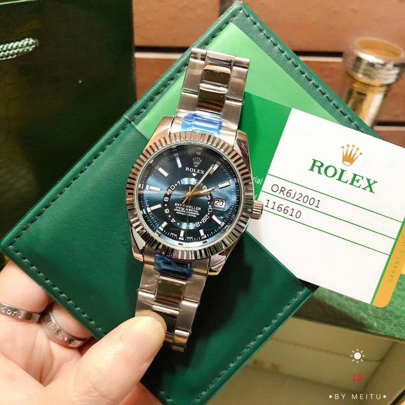 ¡Gran oferta 2020! Reloj de cuarzo con banda de acero para hombre de lujo marca skydweller, reloj de regalo para mujer AAA 2
