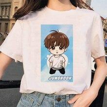 Harajuku JIN SUGA J HOPE JIMIN V JUNGKOOK t-shirt bangtan garçons t-shirt femmes style coréen surdimensionné kpop t-shirt femme ulzzang