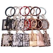 Rainbéry nouvelle mode multi-ful porte-clés et porte-cartes en cuir PU O porte-clés avec sac de bracelet assorti pour les femmes filles