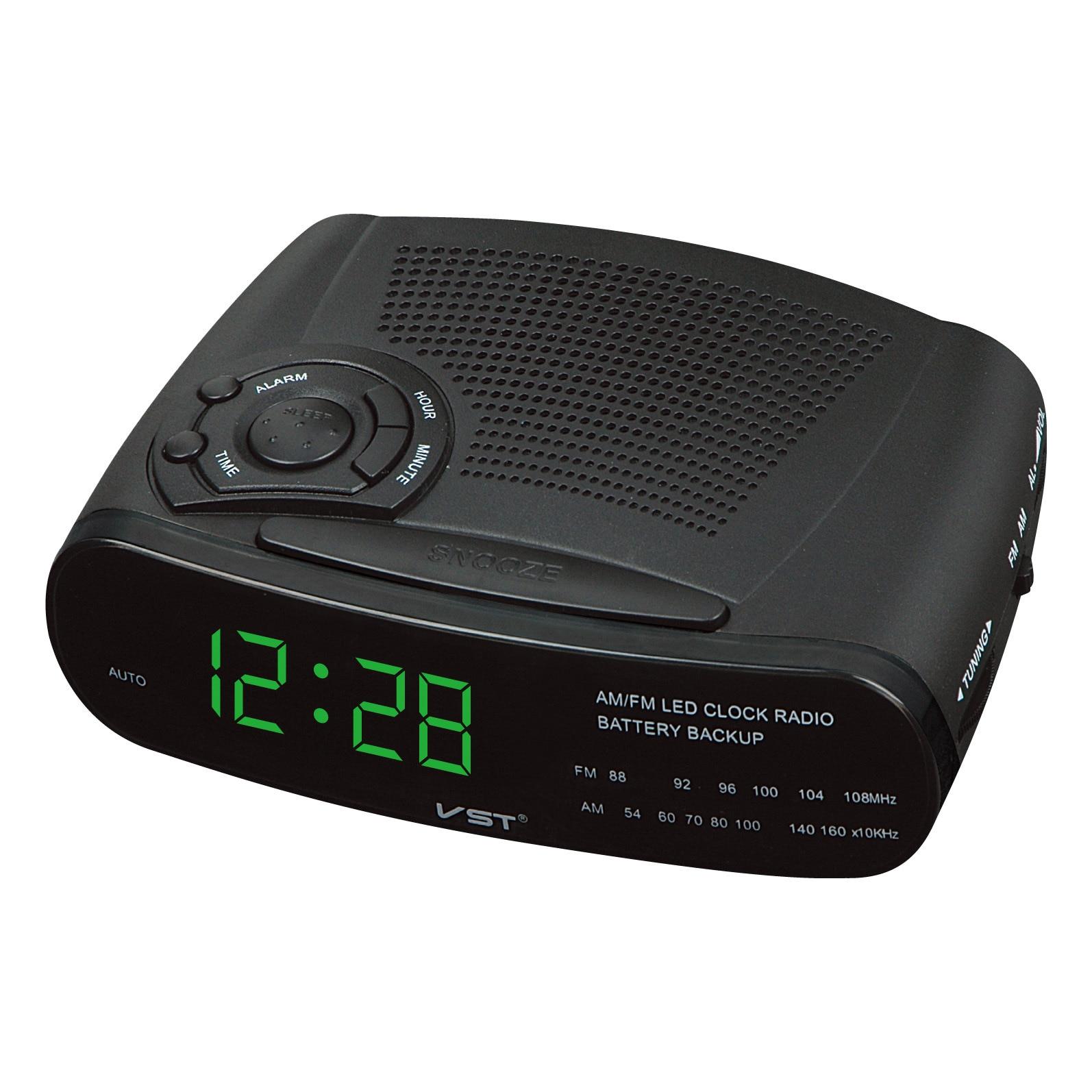 Reloj despertador Digital Radio con Canal AM FM relojes de mesa de Radio Función de billar LED reloj electrónico de oficina para estudiantes