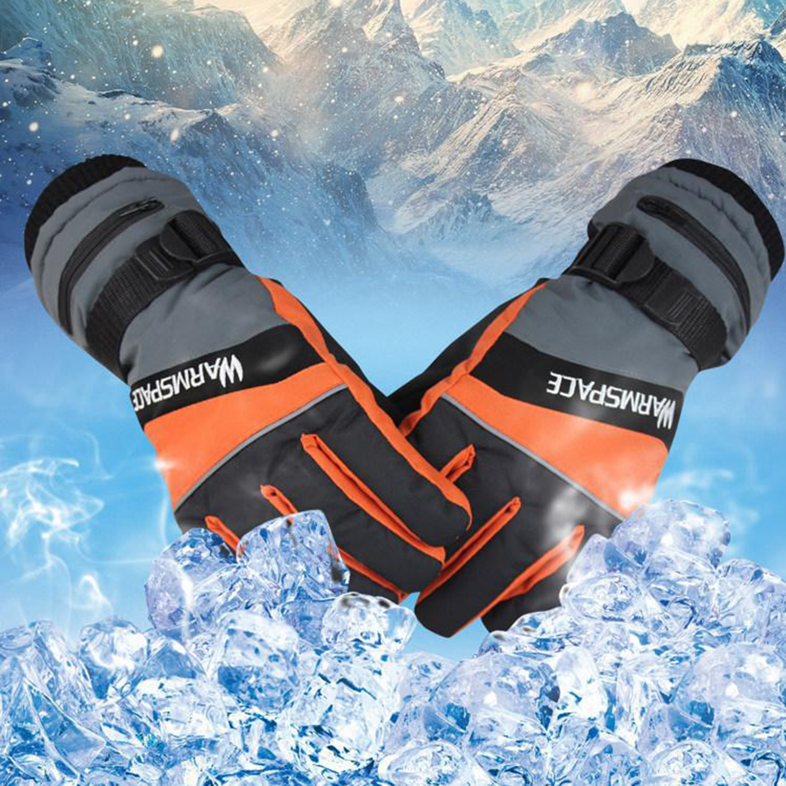 Electric Heated Gloves Rechargeable Batteries Waterproof Thermal Hand Warmer Warming Glove for Skiing, Snowboard, Motorcycle enlarge