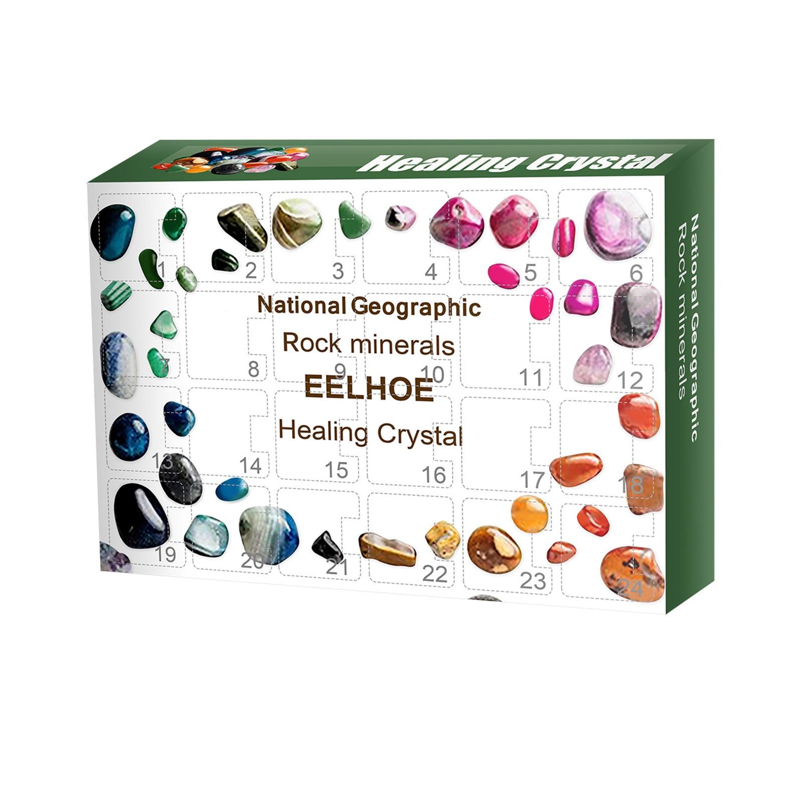Подарочная коробка, 24 ячейки руды, коллекция сырой руды, Рождественский календарь, руда, искусственные камни, коробка, образцы руды, Рождест...