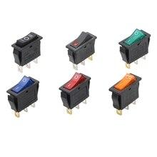 KCD3-interrupteur à bascule autobloquant   2 positions, équipement électrique à 3 broches avec interrupteur dalimentation lumineux 16A 250VAC/ 20A 125VAC 1 pièce