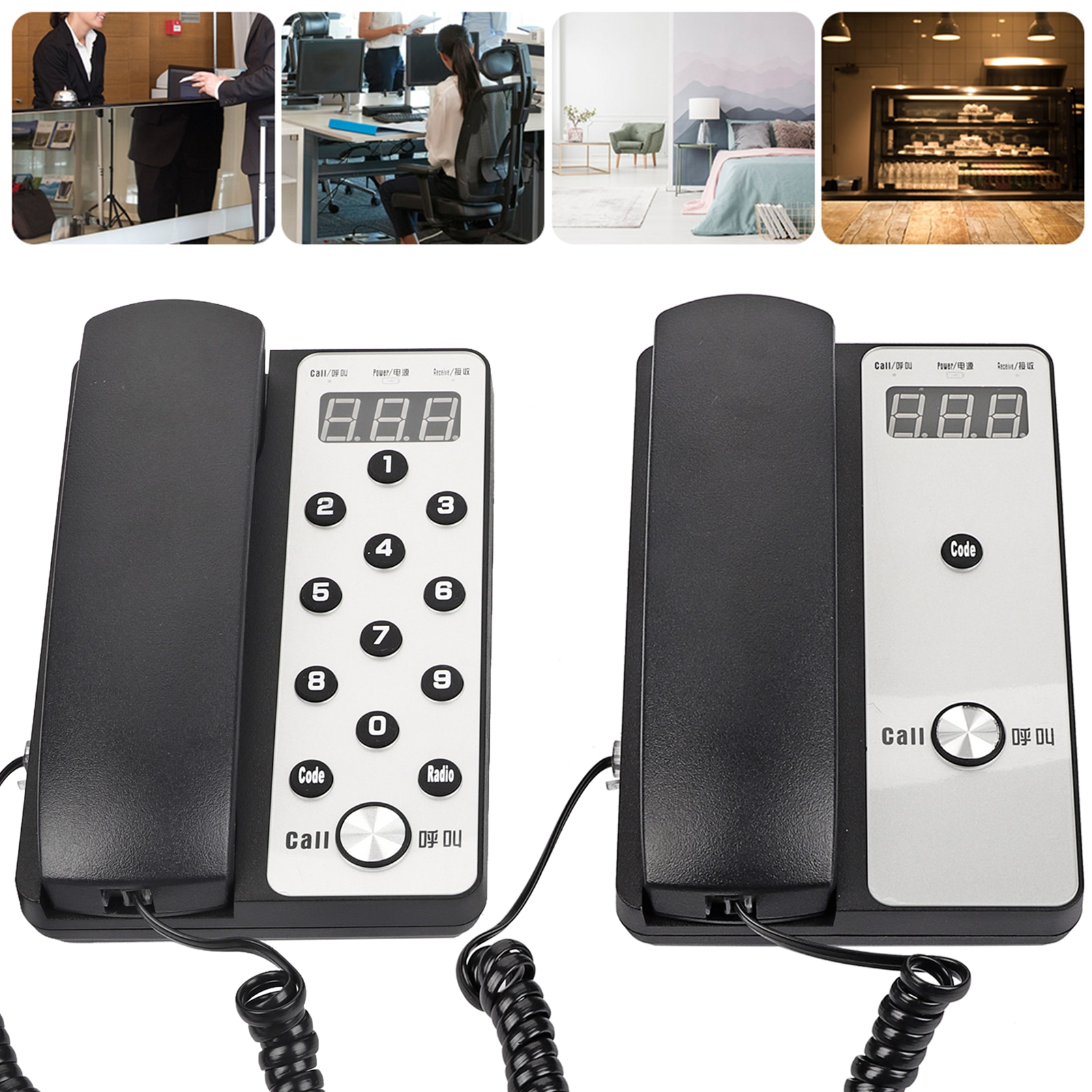 New Wireless Intercom System Audio Secure Interphone Handsets Expandable for Warehouse Office Hotel Interphone Maison Home Phone enlarge