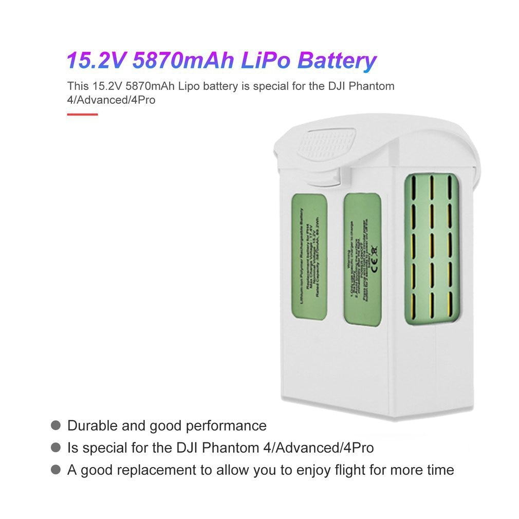 15.2V 5870mAh Intelligent Spare Flight LiPo Battery Replacement with Safe Bag for DJI Phantom 4/ Advanced/4 Pro FPV RC Drone Toy enlarge