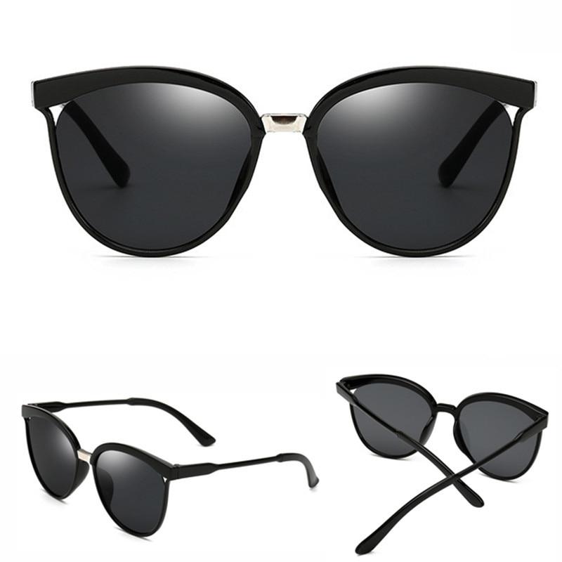 Mirror Luxury Cat Eye Women Sunglasses Brand Design Plastic Sun Glasses Classic Retro Outdoor Eyewear Oculos De Sol Gafas UV400