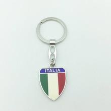 Vacances Souvenirs touristiques médaille porte-clés Italia alliage de métal lettres prix porte-clés fantaisie porte-clés Premium cadeau