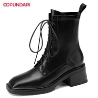 ladies black brown lace up high heels ankle boots women autumn winter modern short boots party shoes bottine femme botines mujer