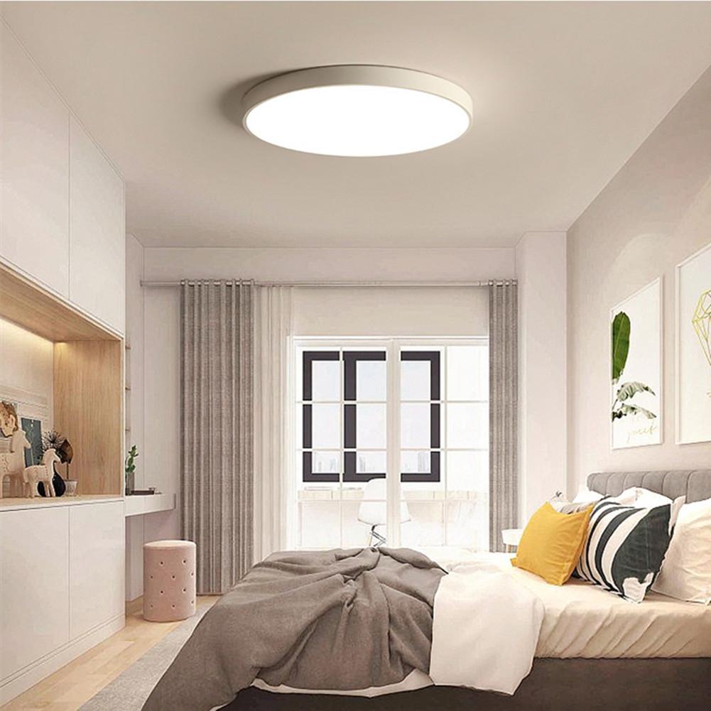 DishyKooker 20W LED 5CM Thin Simple White Shell Ceiling Lamp for Study Bedroom Corridor