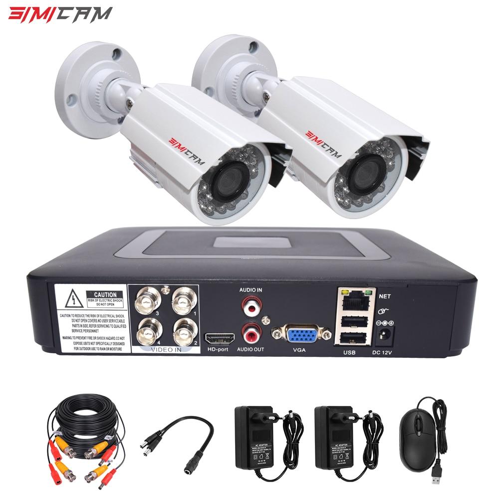 Cctv система безопасности комплект HD видео рекордер DVR камера наблюдения комнаты безопасности AHD 1MP/2MP 1080P Пульт дистанционного просмотра виде...