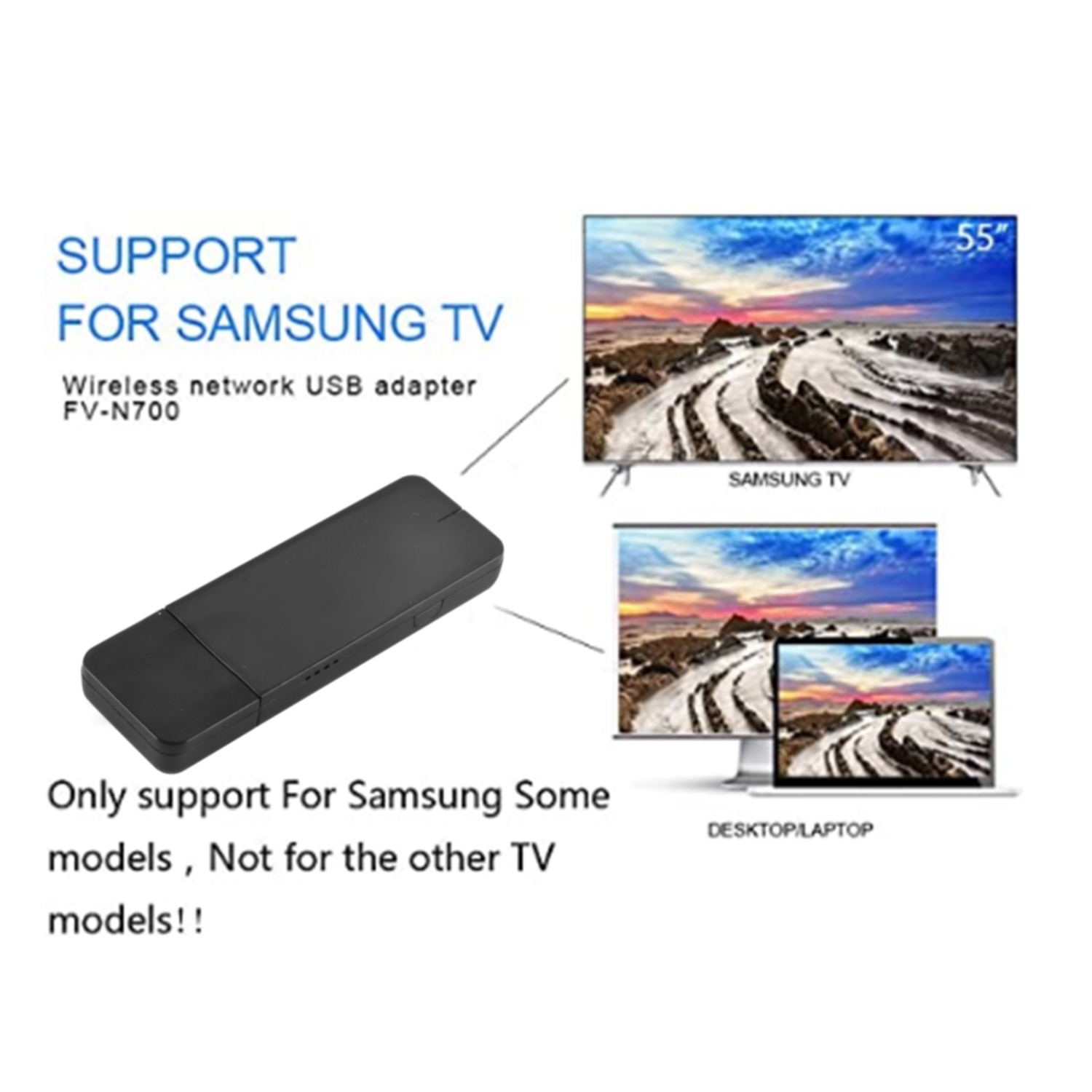 Mini WLAN Lan USB Adapter For Smart TV Samsung WIS12ABGNX WIS09ABGN 5G 300Mbps Wifi Adapter For Lapt