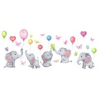 Мультяшный слон воздушный шар Настенная Наклейка для детской комнаты домашний декор спальня гостиная обои Симпатичные детские наклейки