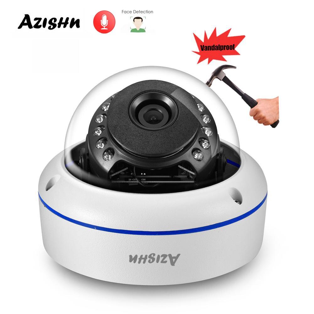 AZISHN المخرب H.265 + 5MP الصوت POE IP كاميرا الوجه كشف مقاوم للماء قبة P2P للرؤية الليلية ل طقم مراقبة الدوائر التلفزيونية المغلقة