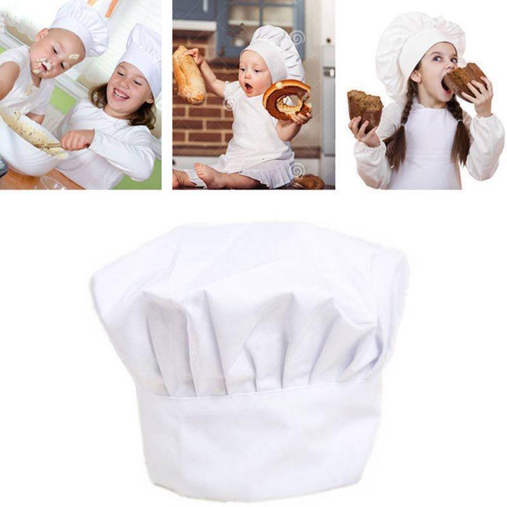 Hot Sale Baby Kid White Chef Hat Kitchen Children Toy Cooking Play Supplies Set Chef Set Elastic Cap